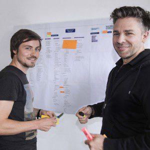 Hannes und Norman entwickeln eine Sitemap